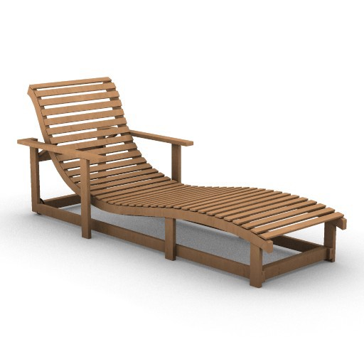 Cad 3D Free Model armanicasa  dao_chaise_longue