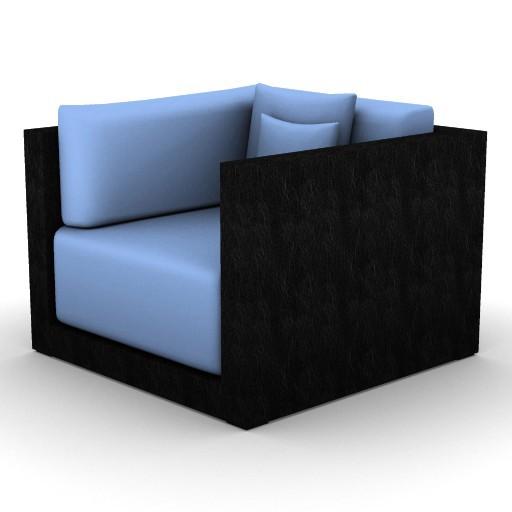 Cad 3D Free Model ArmaniCasa  sidney_poltrona