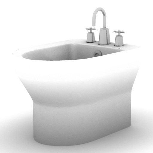 Cad 3D Free Model armitage_shanks  bidet1