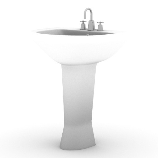 Cad 3D Free Model armitage_shanks  lavabo1