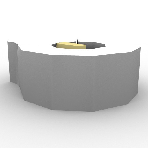 Cad 3D Free Model artemide A_parete  frost