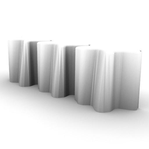 Cad 3D Free Model artemide A_parete  logico_micro_par_3_inlinea