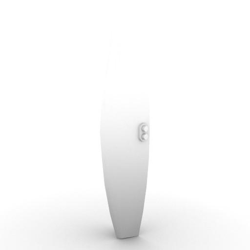 Cad 3D Free Model artemide A_parete  robbia_60