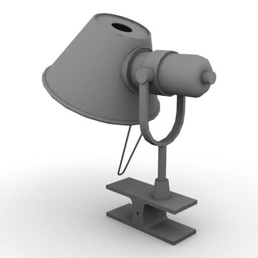 Cad 3D Free Model artemide A_parete  tolomeo_pinza