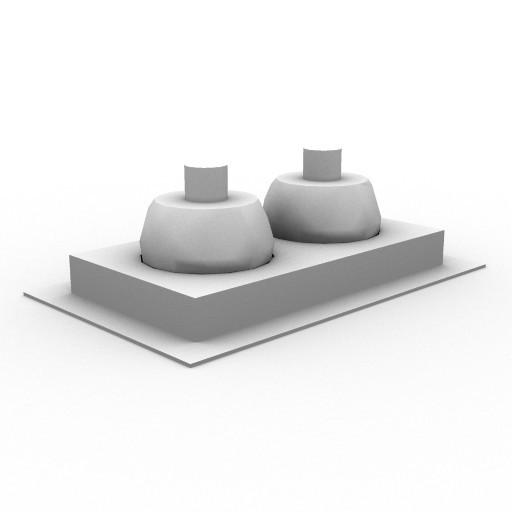 Cad 3D Free Model artemide Ad_incasso  java_rettangol_a_due