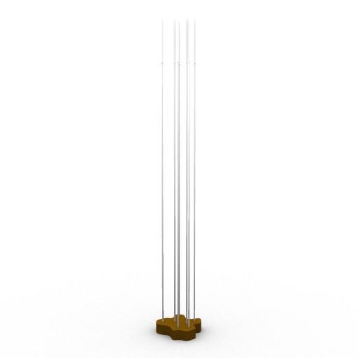 Cad 3D Free Model artemide Da_terra  reeds