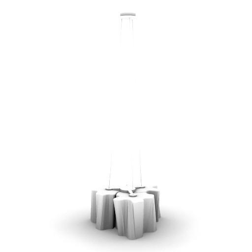 Cad 3D Free Model artemide Sospese  logico_stand_sosp_3x120