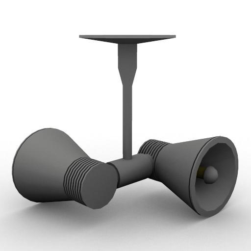 Cad 3D Free Model artemide Sospese  miniflap_spot_doppio_a