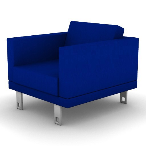 Cad 3D Free Model boss  milli_armchair