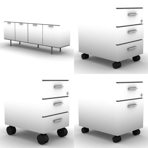 Cad 3D Free Model Bralco  f-cassettiere