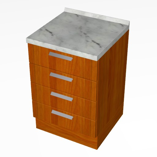 Cad 3D Free Model cucinasmart  cassetti