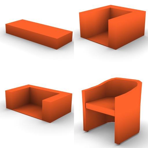 Cad 3D Free Model DellaRovere  divani