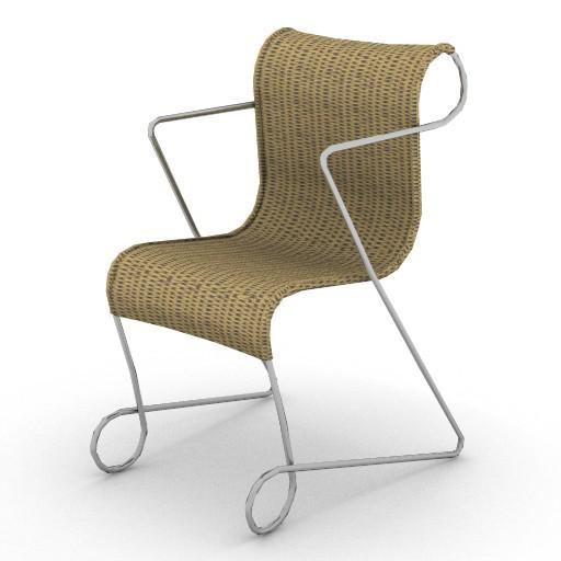 Cad 3D Free Model driade Sedute  zigo