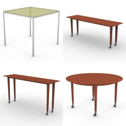 Cad 3D Free Model Driade  tavoli