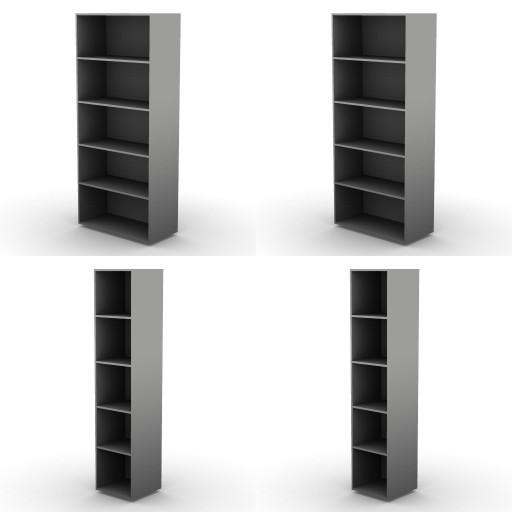 Cad 3D Free Model dvo 02-06-vertigo  15b-storage-units-h.207.5-metal_shelves