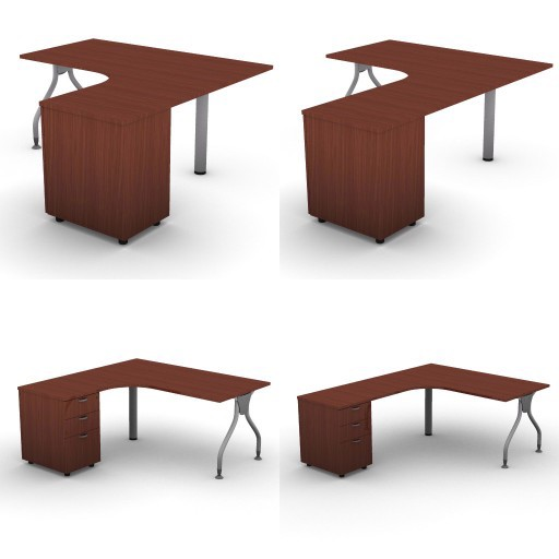 Cad 3D Free Model dvo A02-bull1  08-compact-desks-slim-column