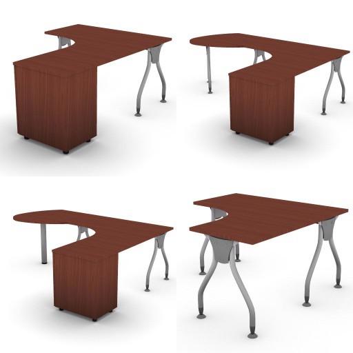 Cad 3D Free Model dvo A02-bull1  10-compound-desks