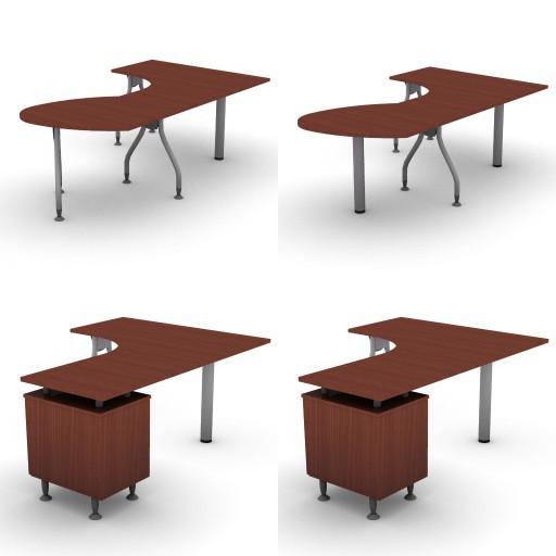 Cad 3D Free Model dvo A02-bull1  11-compound-desks-slim-column