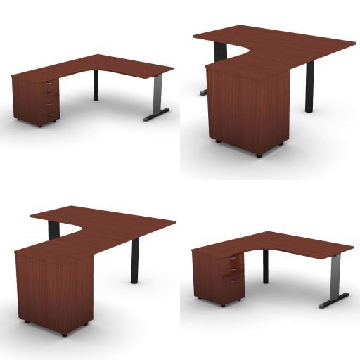 Cad 3D Free Model dvo A03-quicker  08-compact-desks-slim-column-quicker