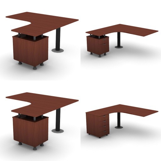 Cad 3D Free Model dvo A03-quicker  09-compact-desks-column-quicker