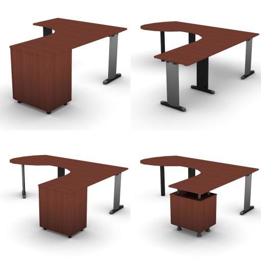 Cad 3D Free Model dvo A03-quicker  10-compound-desks-quicker