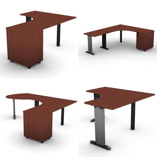 Cad 3D Free Model dvo A03-quicker  11-compound-desks-slim-column-quicker