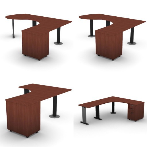 Cad 3D Free Model dvo A03-quicker  12-compound-desks-column-quicker