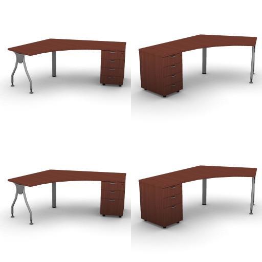 Cad 3D Free Model dvo A04-bull4-  06-shaped-desks-bull4