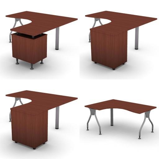 Cad 3D Free Model dvo A04-bull4-  08-compact-desks-slim-column-bull4