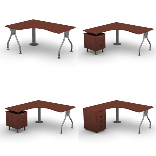 Cad 3D Free Model dvo A04-bull4-  09-compact-desks-column-bull4