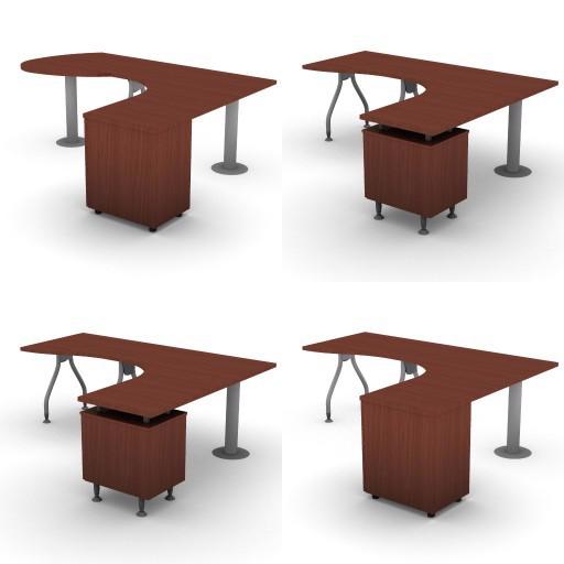 Cad 3D Free Model dvo A04-bull4-  12-compound-desks-column-bull4