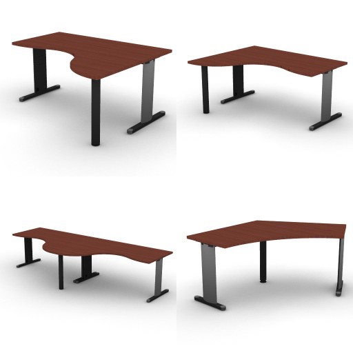 Cad 3D Free Model dvo A05-quicker4  06-shaped-desk-quicker4