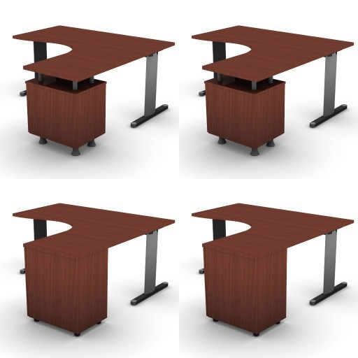 Cad 3D Free Model dvo A05-quicker4  07-compact-desks-quicker4