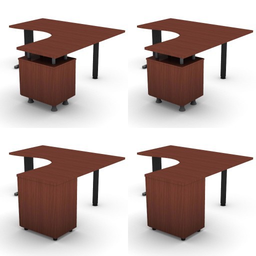 Cad 3D Free Model dvo A05-quicker4  08-compact-desks-slim-column-quicker4