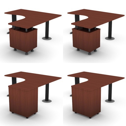 Cad 3D Free Model dvo A05-quicker4  09-compact-desks-column-quicker4