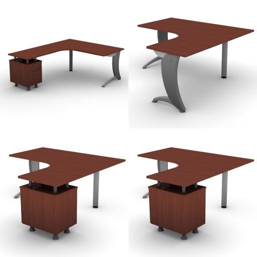 Cad 3D Free Model dvo A06-iks25  08-compact-desks-slim-column-iks25