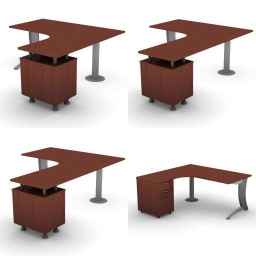 Cad 3D Free Model dvo A06-iks25  09-compact-desks-column-iks25