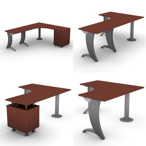 Cad 3D Free Model dvo A06-iks25  12-compound-desks-column-iks25
