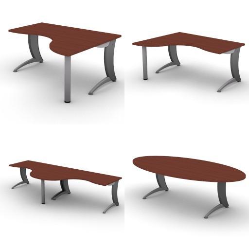 Cad 3D Free Model dvo A07-iks  06-shaped-desks-iks
