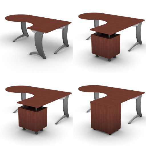 Cad 3D Free Model dvo A07-iks  07-compact-desks-iks