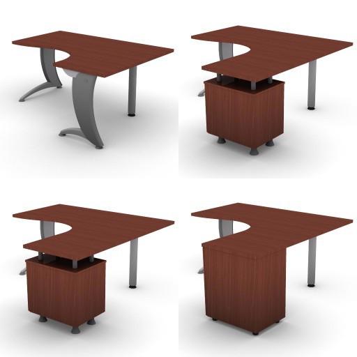Cad 3D Free Model dvo A07-iks  08-compact-desks-slim-column-iks