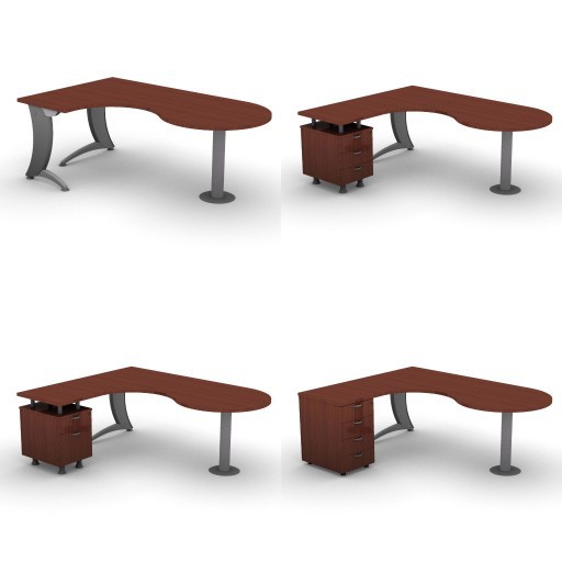 Cad 3D Free Model dvo A07-iks  09-compact-desks-column-iks