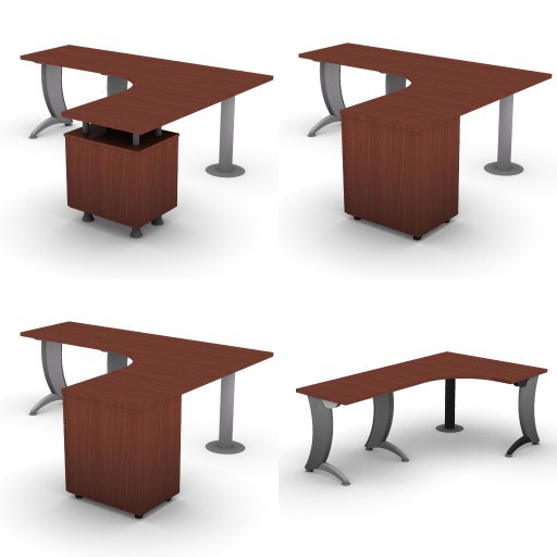 Cad 3D Free Model dvo A07-iks  12-compound-desks-column-iks