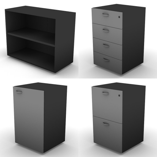 Cad 3D Free Model dvo A08-storage-units-tbqi  16b-h-73,5-metal-shelves