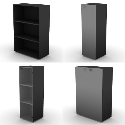 Cad 3D Free Model dvo A08-storage-units-tbqi  17b-h-136-metal-shelves
