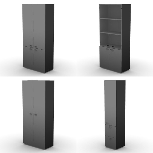Cad 3D Free Model dvo A08-storage-units-tbqi  18b-h-206,5-metal-shelves