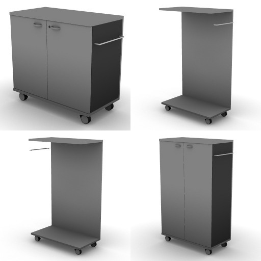 Cad 3D Free Model dvo A08-storage-units-tbqi  27a-uni_ on_castors