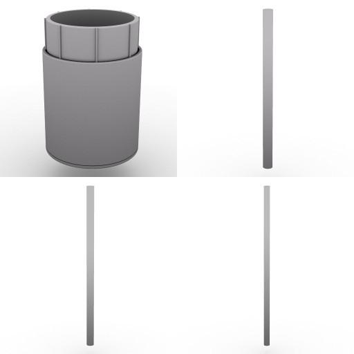 Cad 3D Free Model dvo A21-plexa  p04-posts