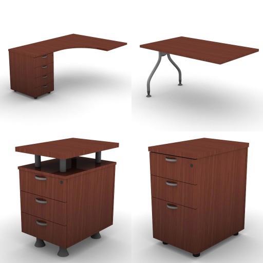 Cad 3D Free Model dvo A21-plexa  p12-plexa-desks