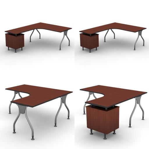 Cad 3D Free Model dvo B02-bull2  07-compact-desks-bull2